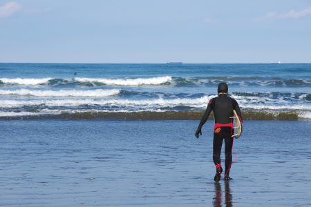 冬 サーフィン