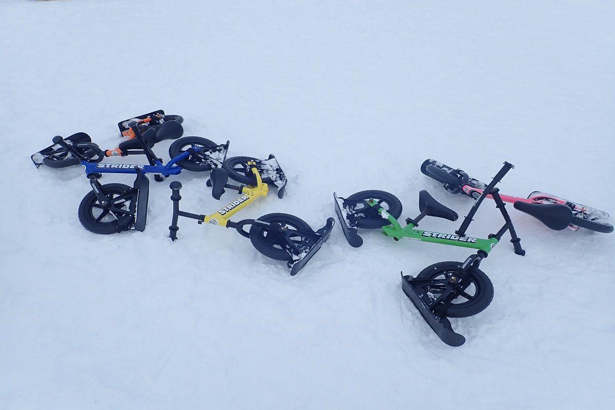 今、スノーストライダーが熱い!?今シーズンは親子で雪上自転車を楽しんでみましょう!