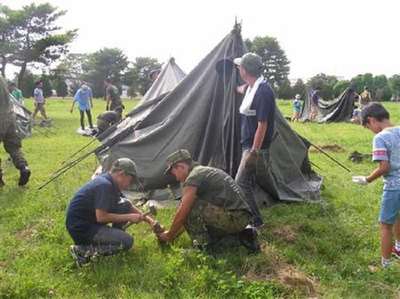 陸上自衛隊と一緒にキャンプ!?親子で楽しめるキャンプ企画をご存知でしたか?