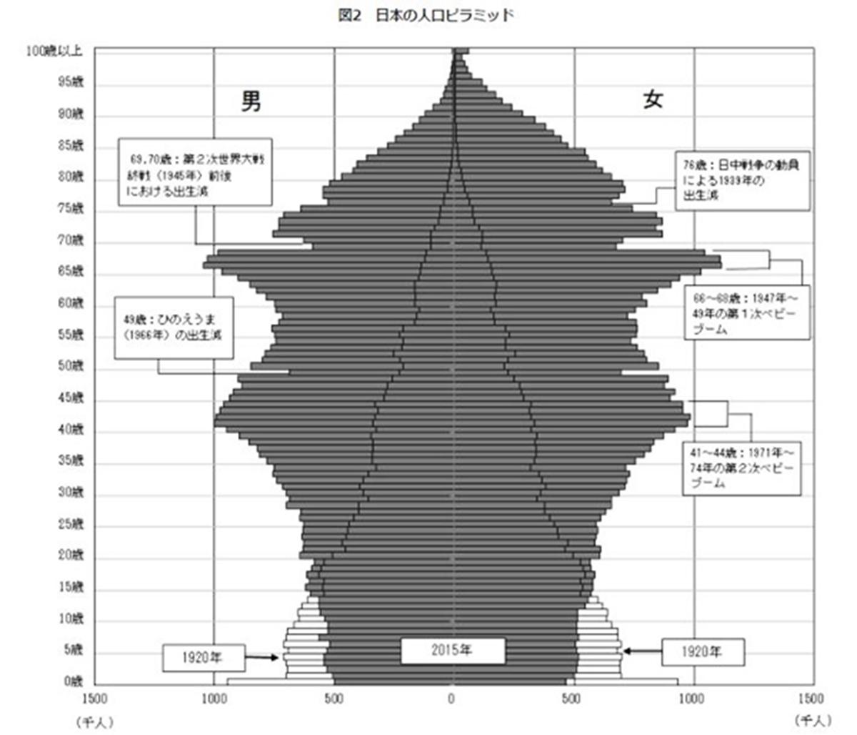人口ピラミッド サーフィン サーファー高齢化