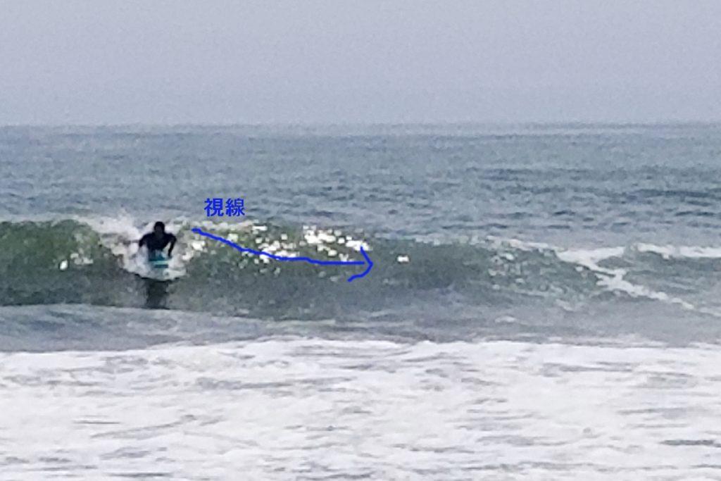 テイクオフ視線 サーフィン初心者 テイクオフ