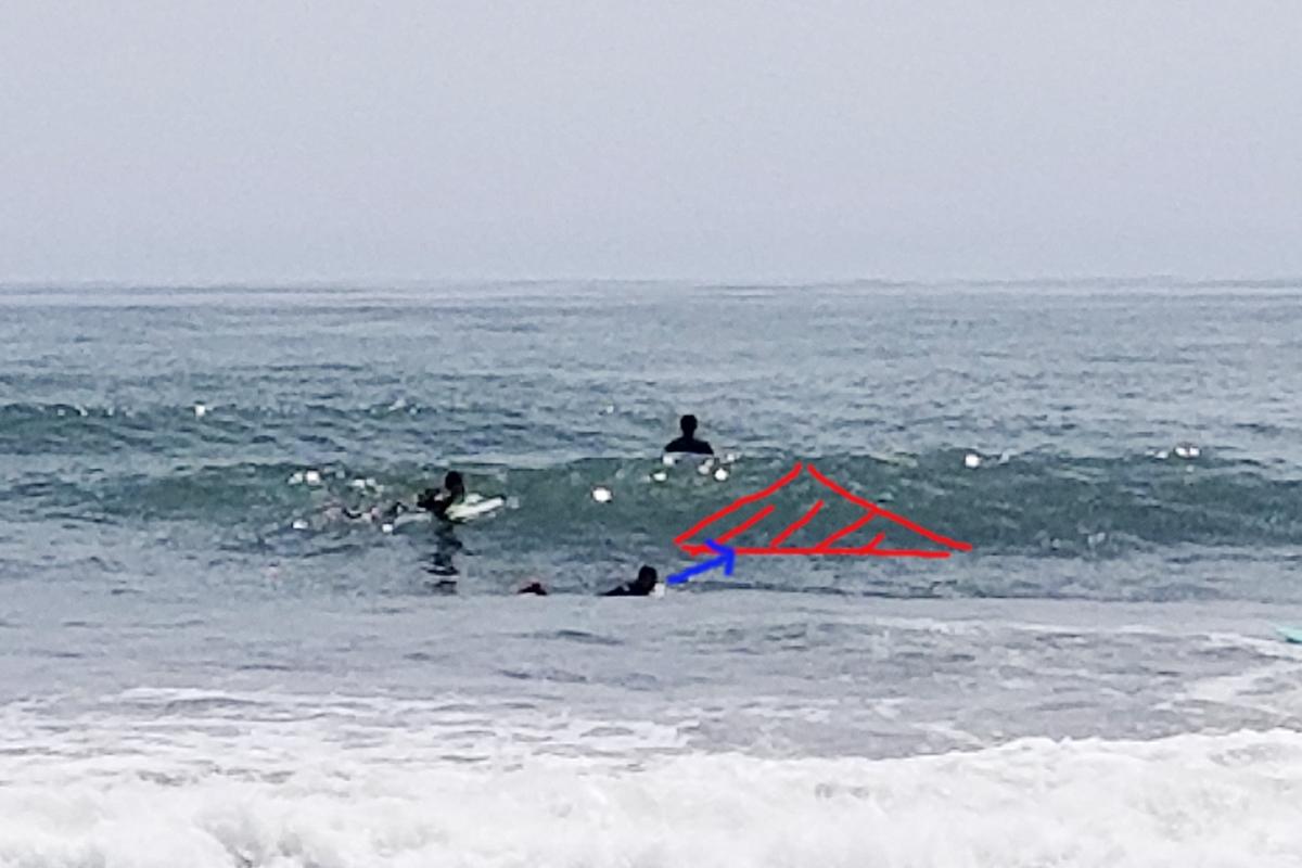 追いかける サーフィン初心者 テイクオフ