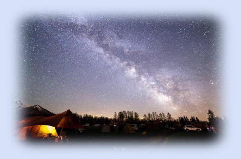 星に手の届く丘キャンプ場 星空キャンプ
