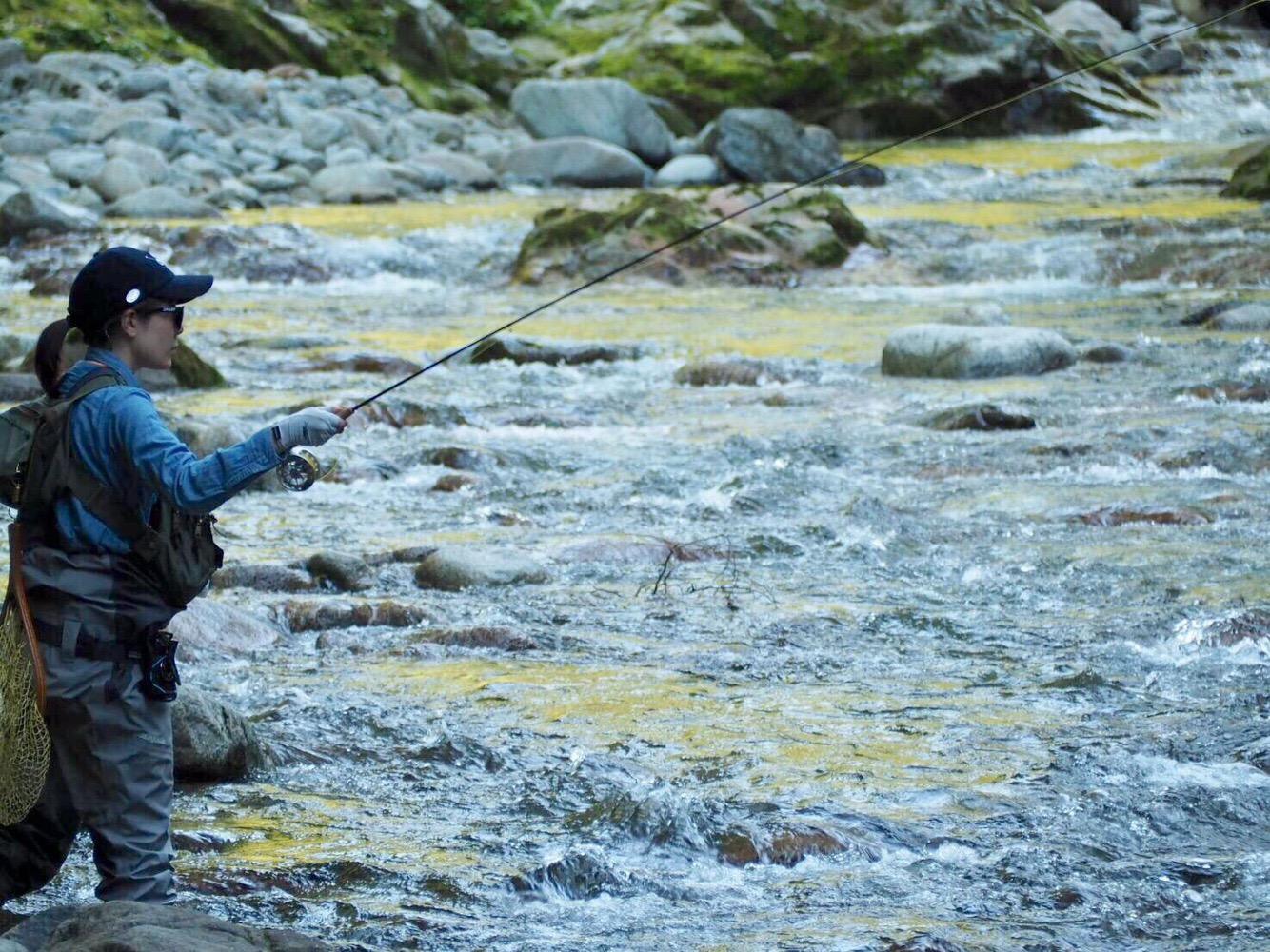 渓流釣りファッション