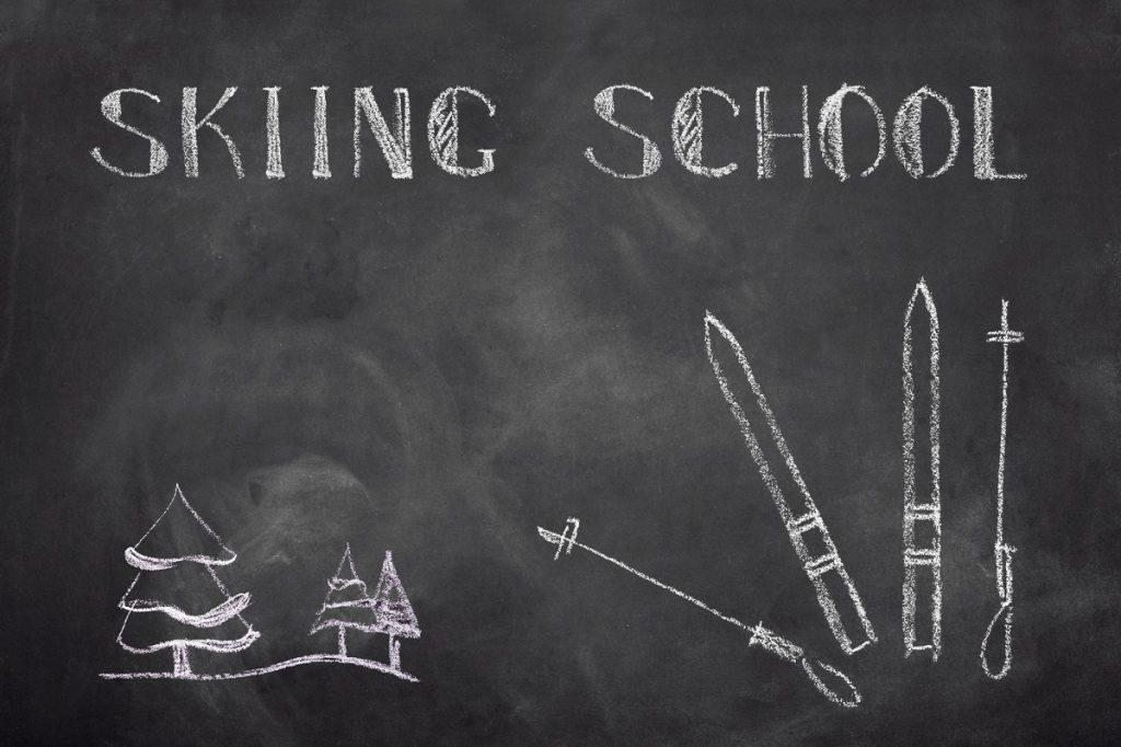 小学生のスキーデビュー