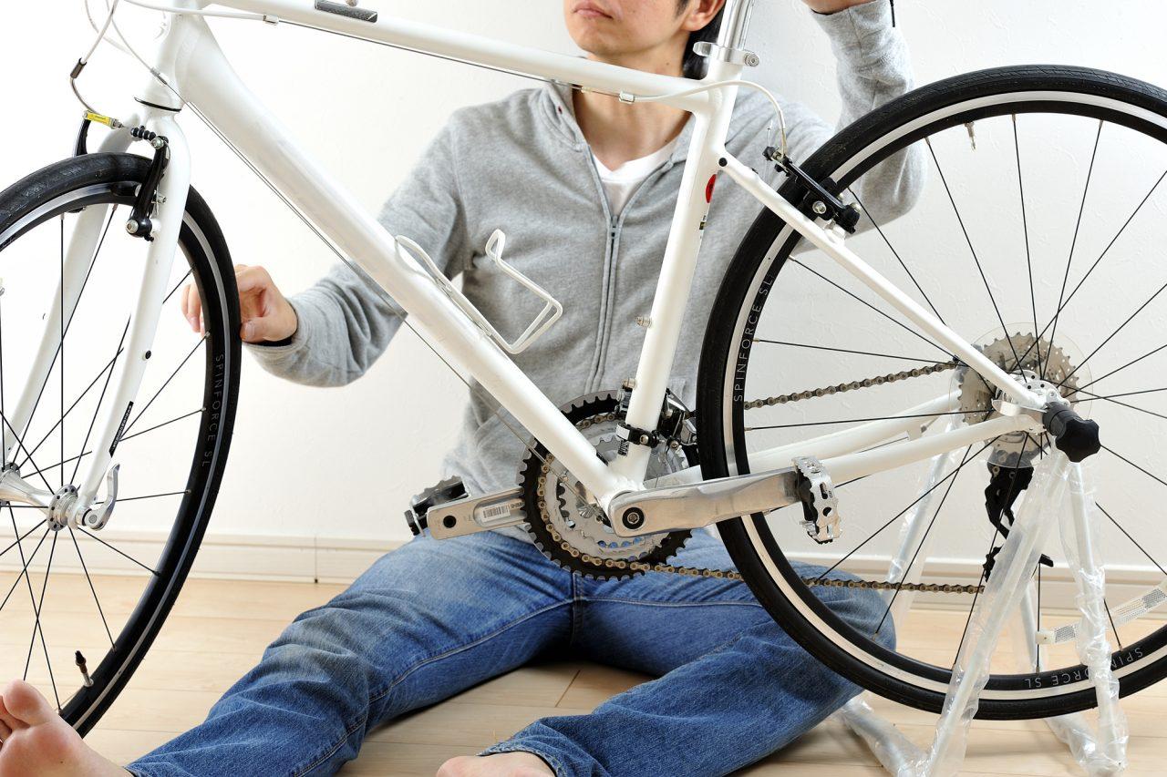 自転車走行で「落車」
