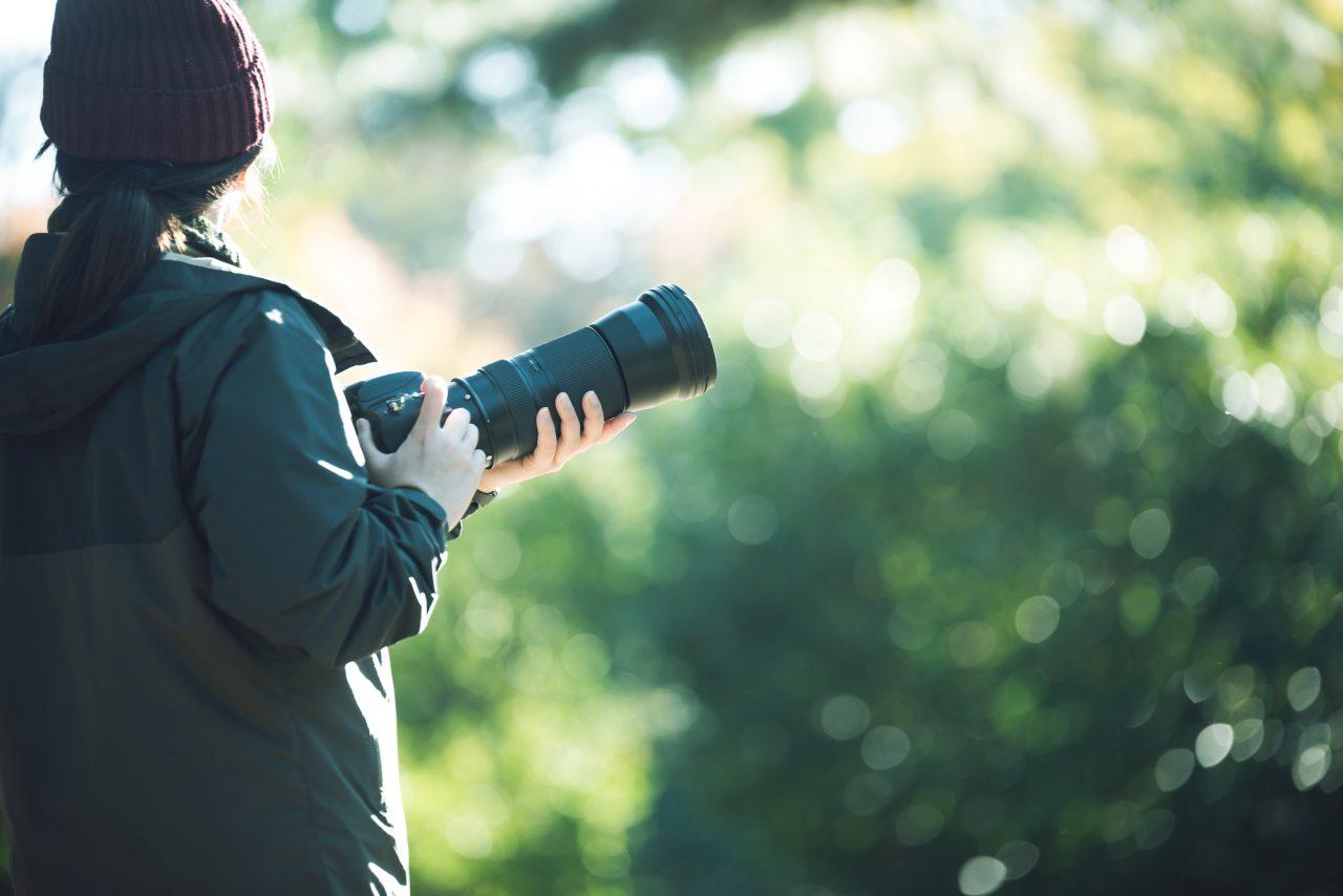 サイクリングで写真や動画を撮るカメラ
