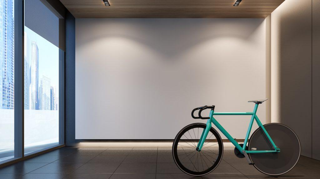 ロードバイクの室内用スタンド