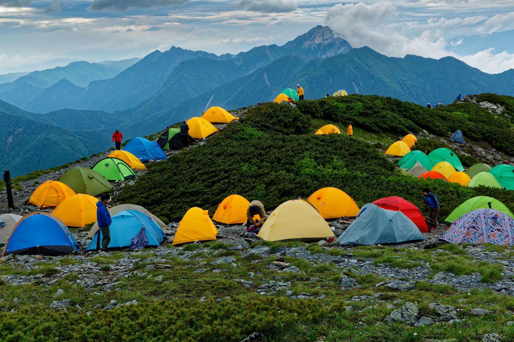 登山で使ったテントと寝袋のお手入れ