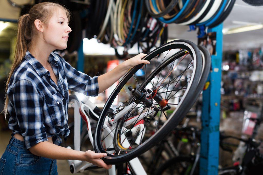 ロードバイク ホイール交換