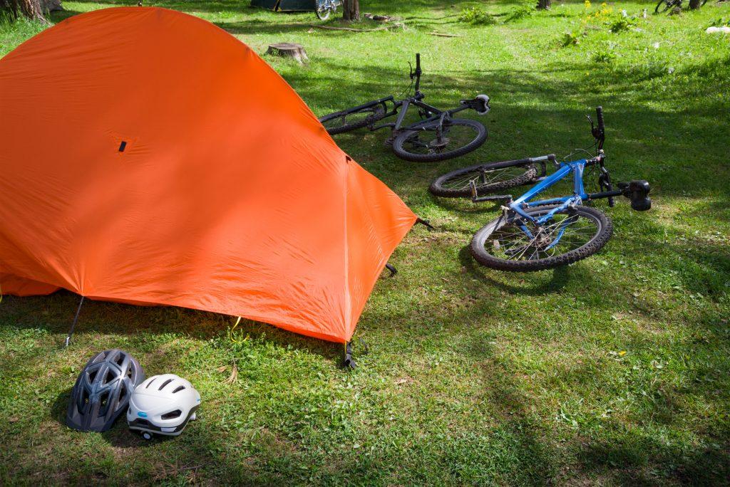 キャンプツーリングの自転車盗難防止