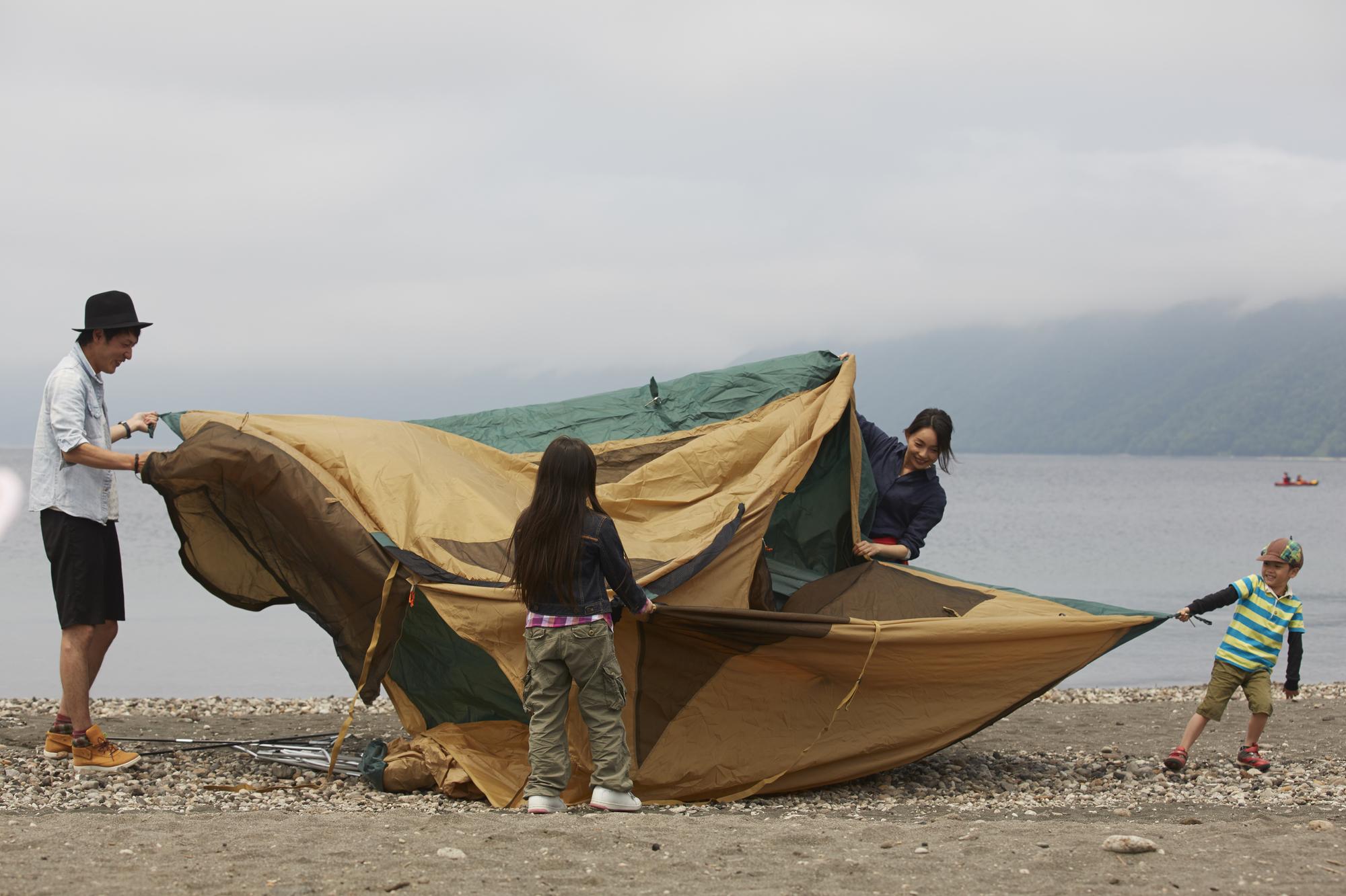使用後のテントの正しいお手入れ方法