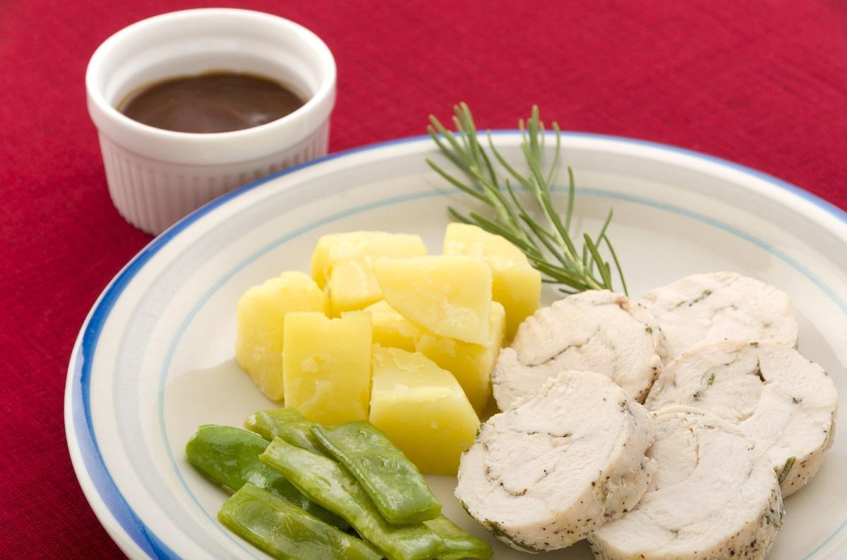鶏ムネ肉の豆乳ソース
