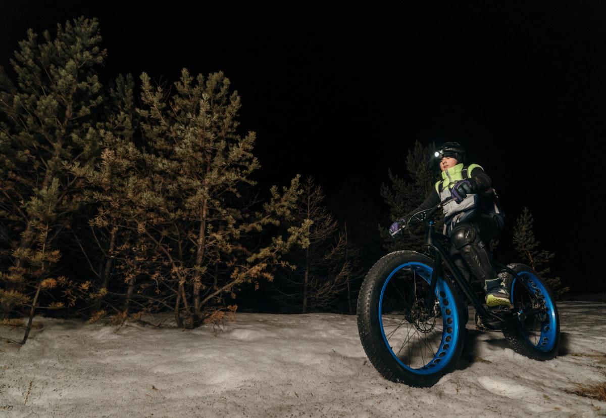 雪上ファットバイク