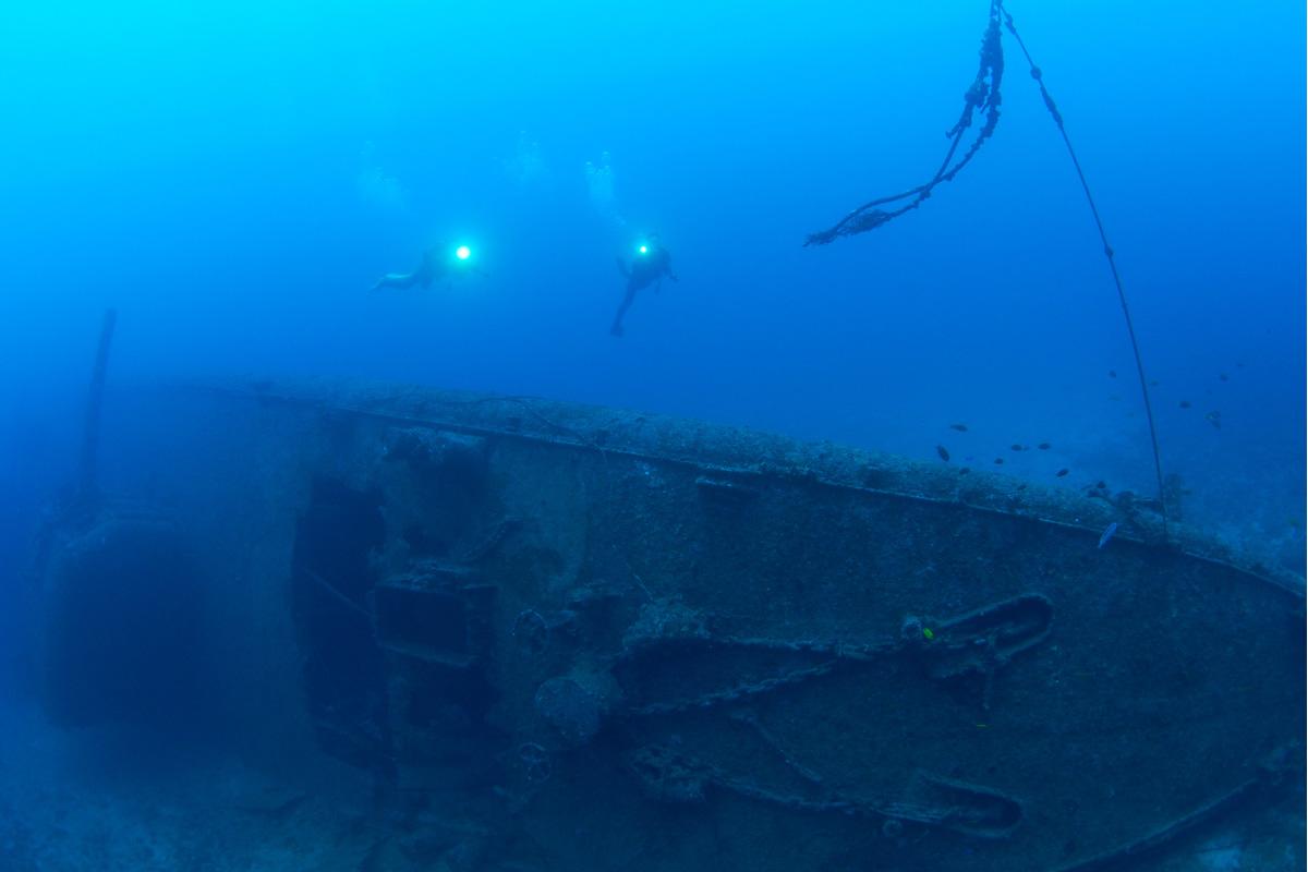 グアムで沈船ダイビング
