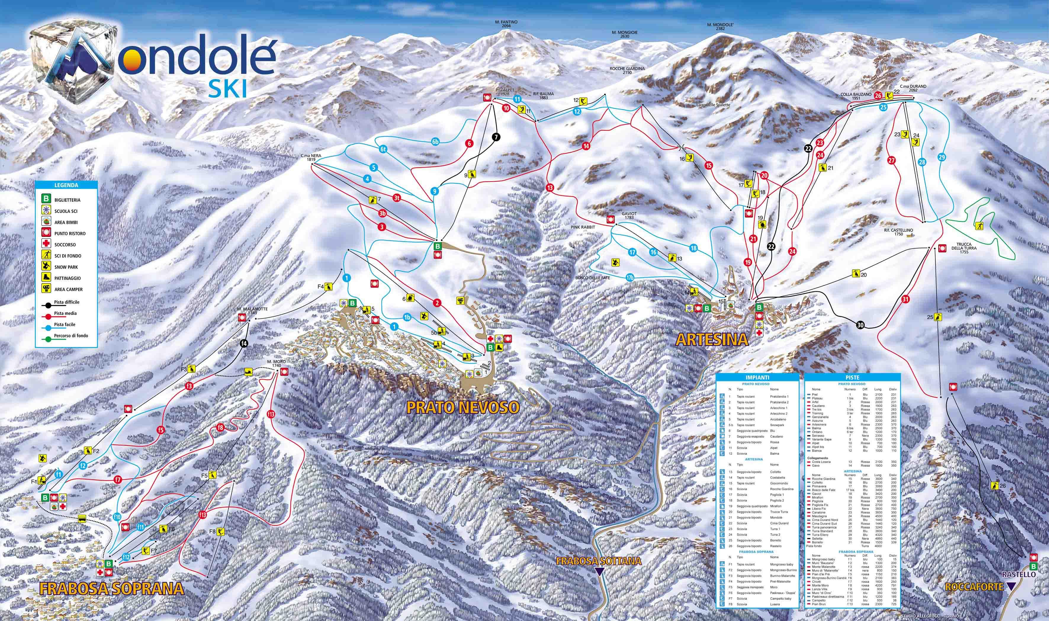 イタリア・Mondolèスキー場