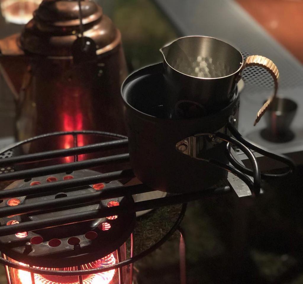 ちろり 冬キャンプは熱燗