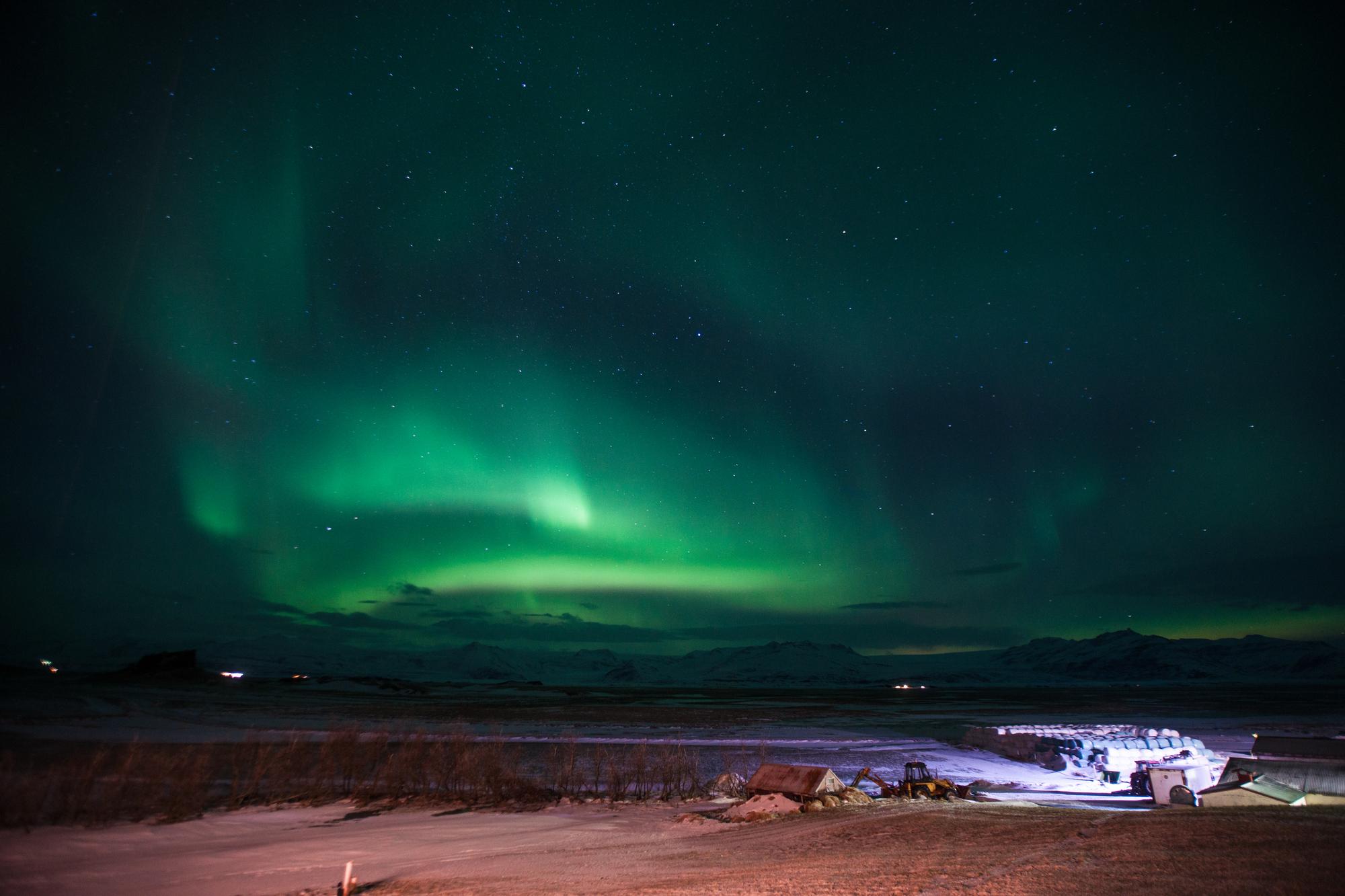アイスランド スノーモービル