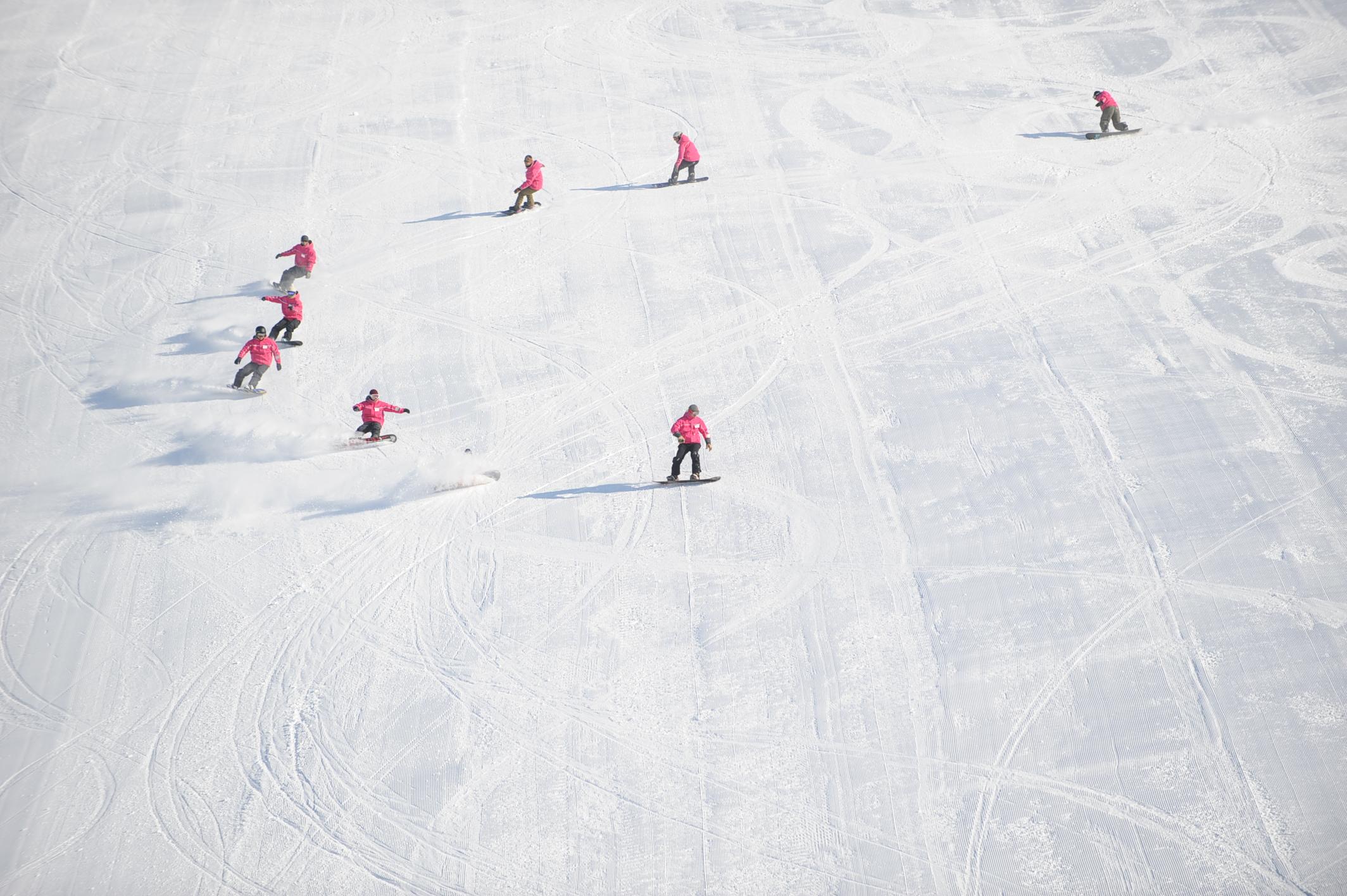 スノーボード・ターンの動作分析