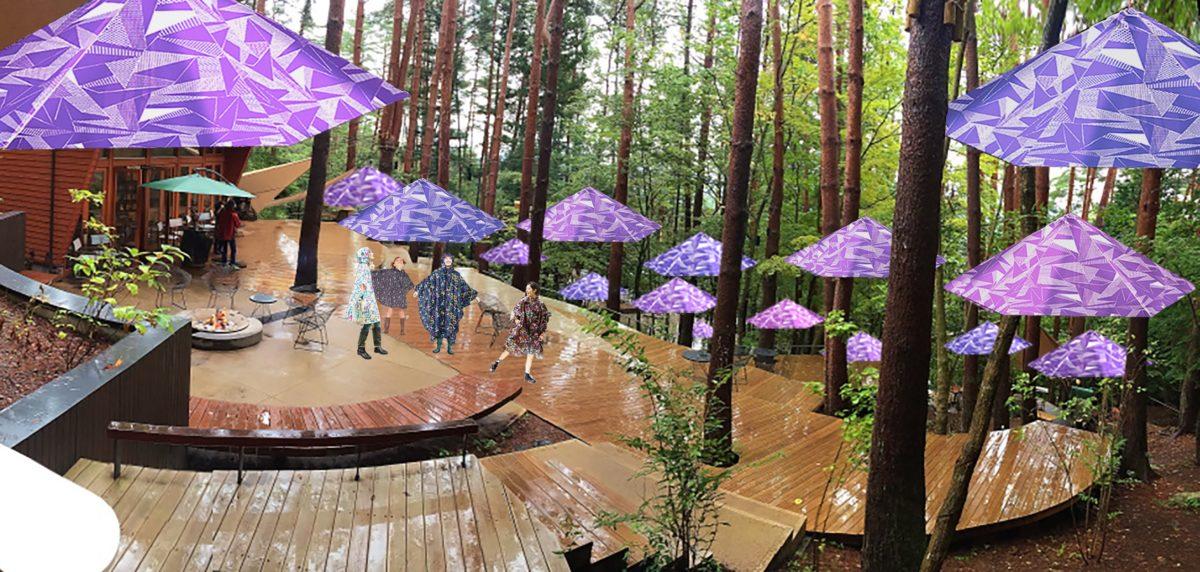 河口湖を望む広大な森で梅雨の森を楽しむ新しいグランピング 「雨グランピング」を開催