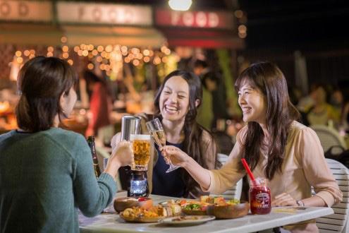 グランピングコーナーで、クラフトビール4種が飲み放題で楽しめる「阪急トップビアガーデン」 2019