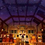 六甲山の満点の星空の下で六甲オルゴールミュージアム 特別展開催