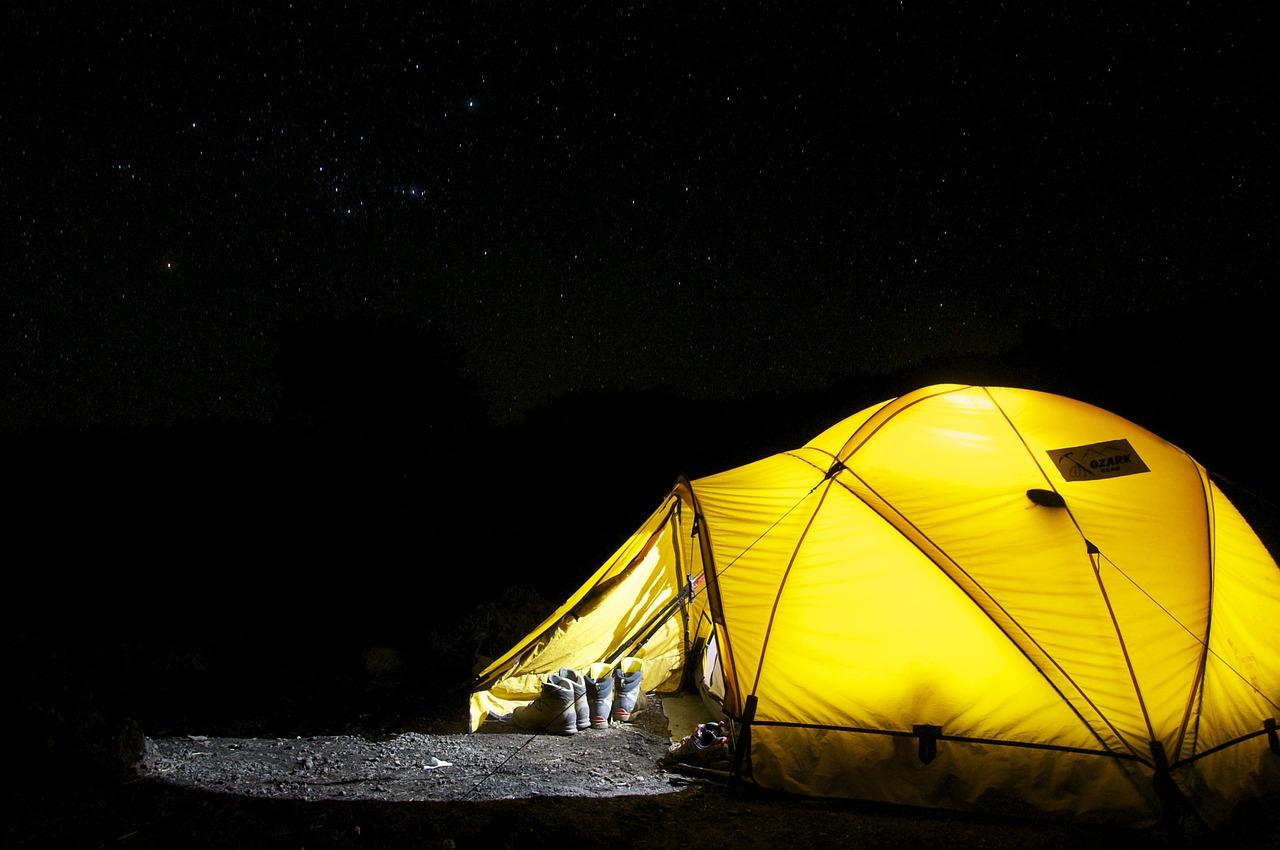 テント夜ライト ツーリング用のキャンプテント
