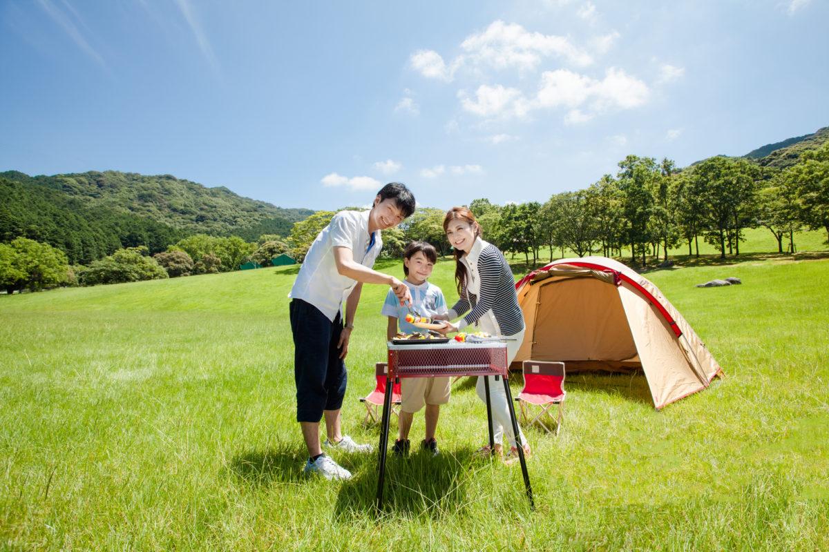 ファミリーキャンプ調理器具と料理