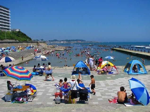 姥の懐マリンプール(茨城)海開き 関東 海水浴