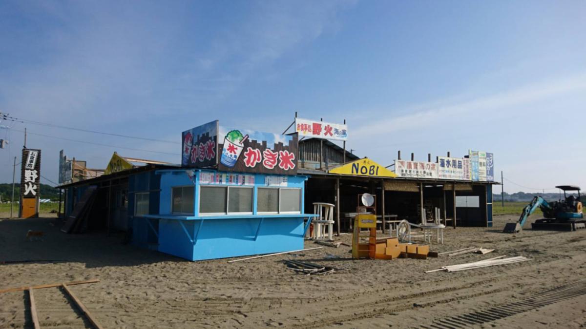 大洗サンビーチの海の家
