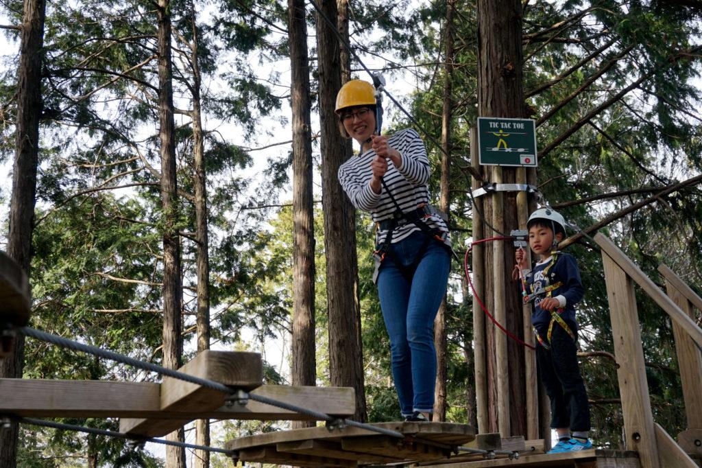 岐阜県百年公園 アドベンチャーパーク「冒険の森」