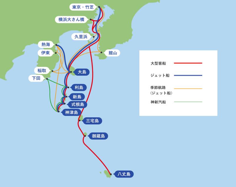 伊豆諸島全体図