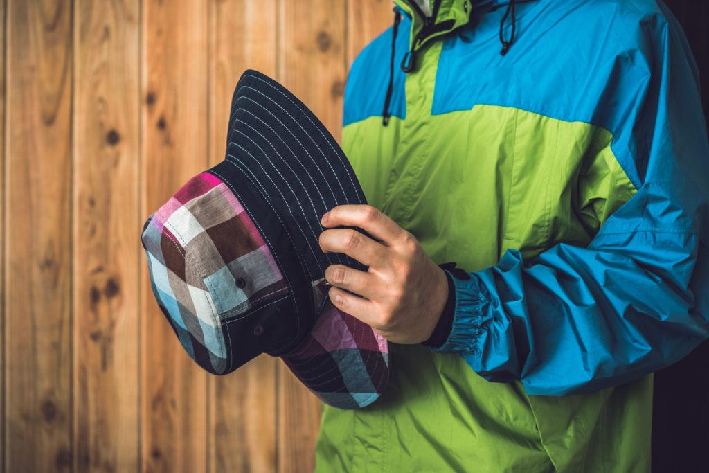 夏の登山帽子