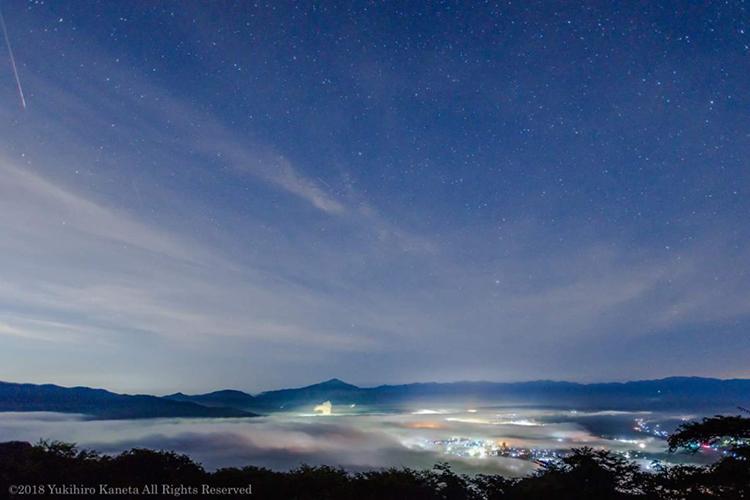 2019年8月12日に秩父の美の山公園で開催される 『ペルセウス座流星群観賞・秩父美の山オールナイト絶景ツアー』