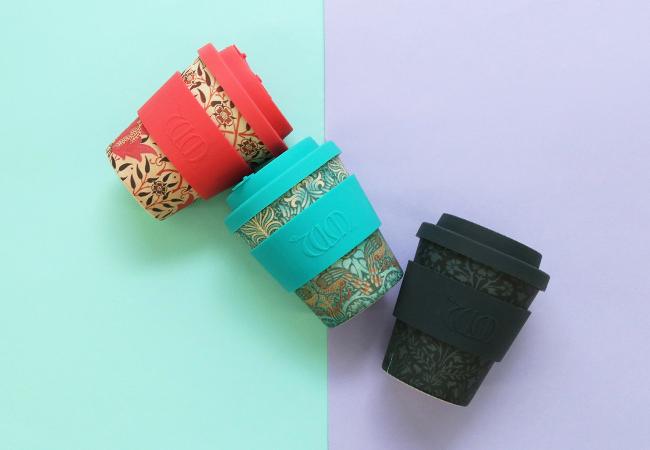 エコなコーヒーカップ、待望の8ozサイズがウィリアム・モリス柄で登場