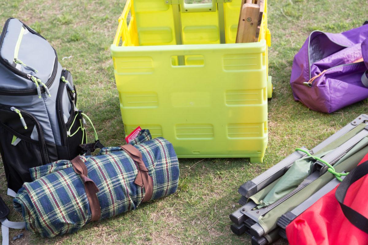キャンプ道具の収納術 グッズ