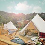 もうひとつの京都、ファームグランピング 京都天橋立・空中テントが珍しい世屋高原家族旅行村で楽しもう!「天橋立砂浜ライトアップ」が7月13日(土)より開催