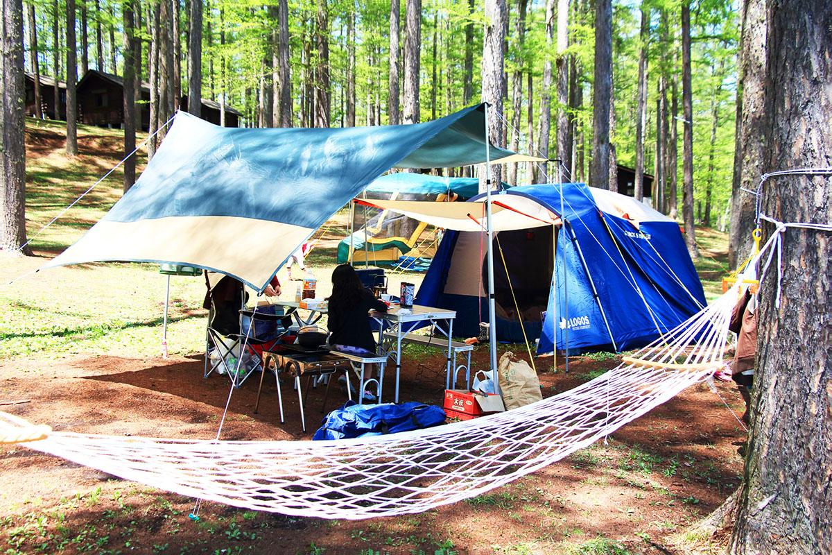 ハンモック キャンプ