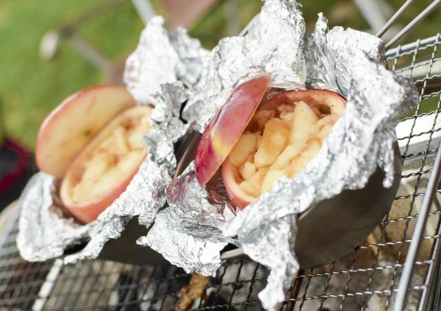 バーベキュー デザート 焼きりんご