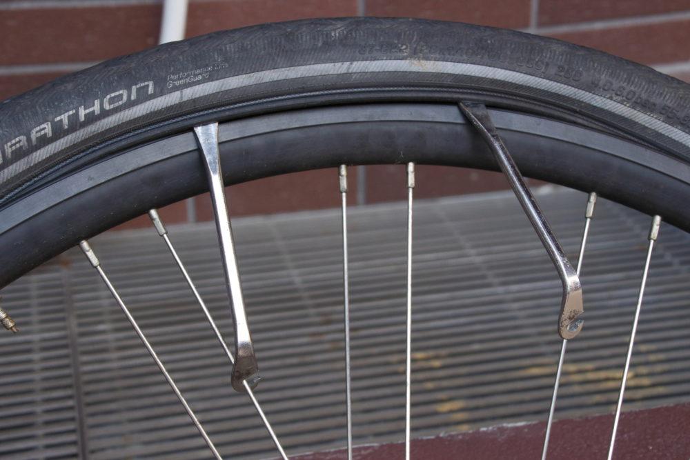 マウンテンバイク タイヤ交換