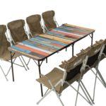 LOGOS、大人数で使えるワイドサイズかつスリム収納可能なアウトドアテーブル「グランベーシック 丸洗い4FDスリムテーブル 18080」新発売