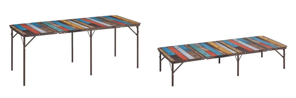 LOGOS「グランベーシック 丸洗い4FDスリムテーブル 18080」