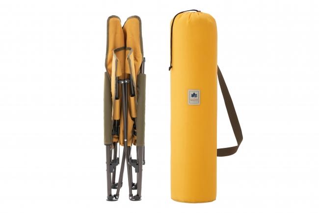 折り畳み式で、スリム収納ができる。持ち運びに便利な収納バッグ付き。