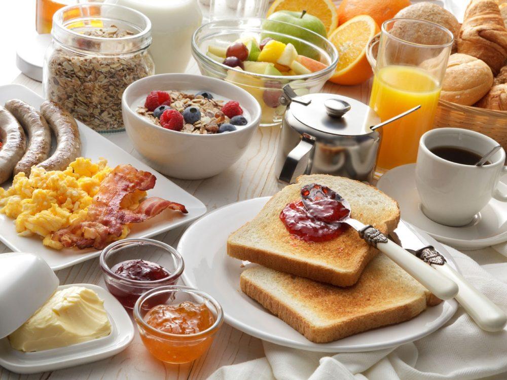 ロードバイク 朝食