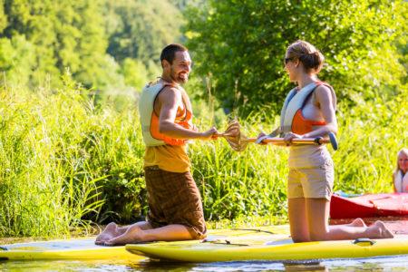 湖SUPの醍醐味は、キャンプとのダブルメニューがおすすめ