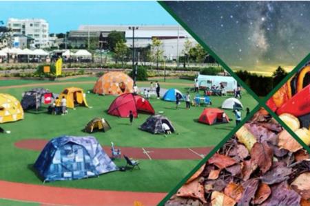 大型ショッピングセンターで屋外キャンプを体験できる!