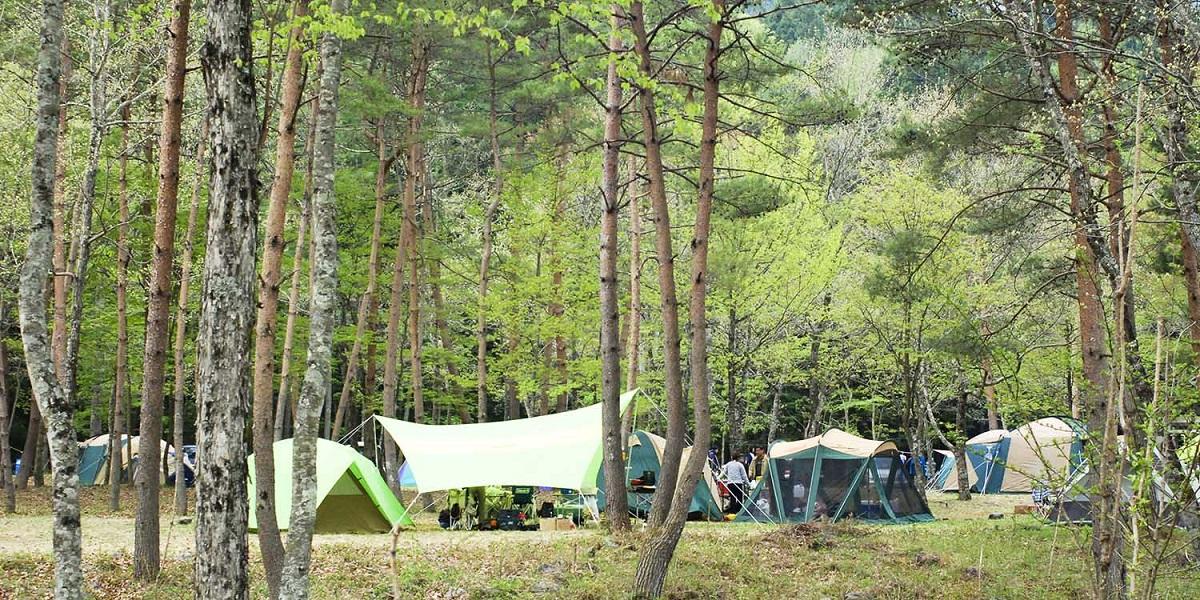 キャンプ場,温泉