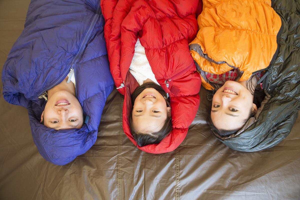 キャンプ・登山用寝袋(シュラフ)