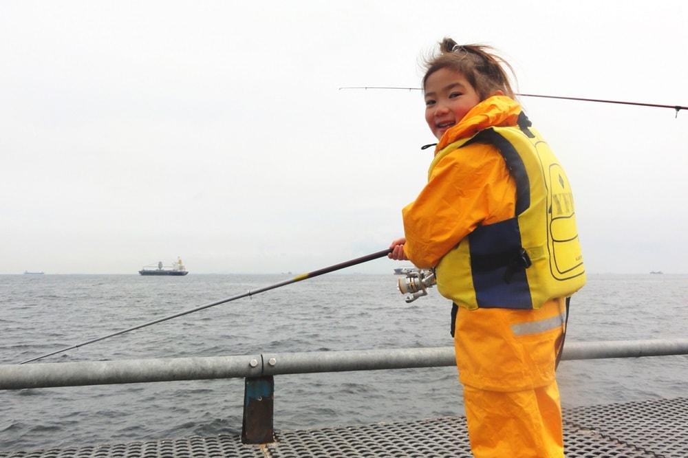冬 堤防釣り