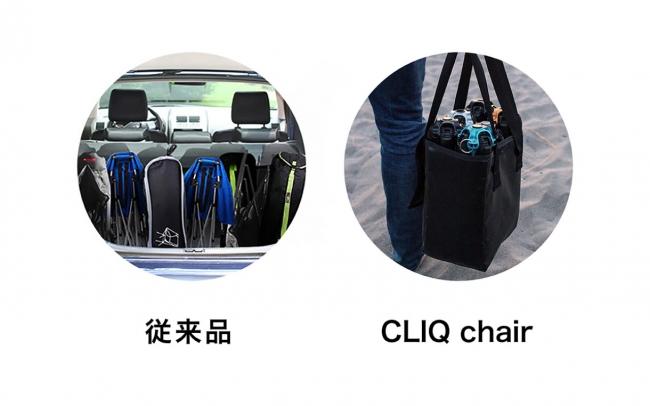 アウトドアチェアのCLIQ Chair(クリックチェア)
